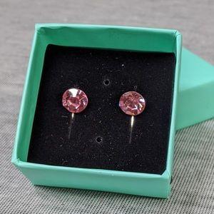Jewelry - Pink Swarovski Element Lever Back Earrings